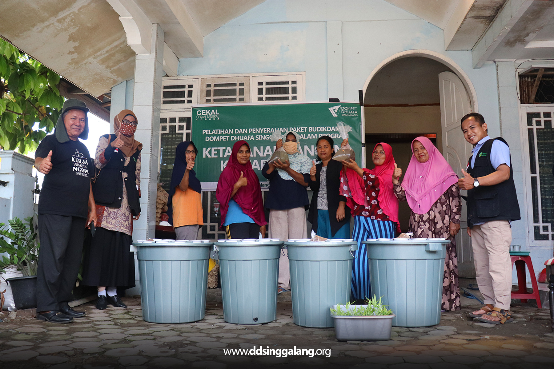 DD Singgalang Launching Program KPK untuk Penuhi Nutrisi Keluarga