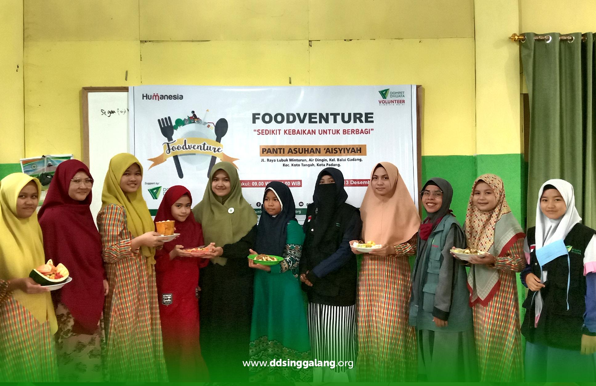Memperingati Internasional Volunteer Day 2020, DDV Sumbar Selenggarakan Foodventure di Panti 'Asyiyah Padang