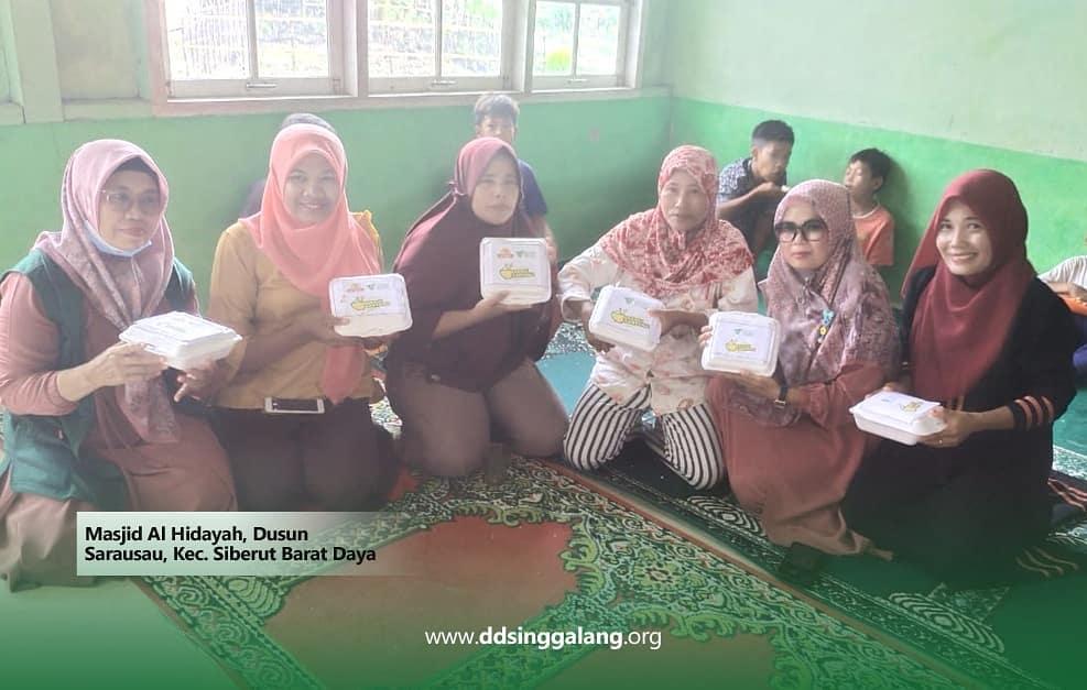 Penyaluran Babagi Kanyang  di Dusun Sarausau Mentawai